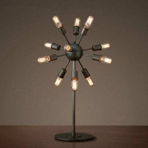 Лампа настольная Loft Industrial Sputnik Table Lamp