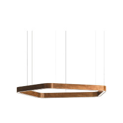 Henge Light Ring Horizontal Polygonal D70 Copper