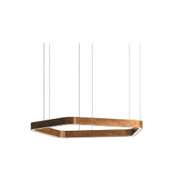 Henge Light Ring Horizontal Polygonal D60 Copper
