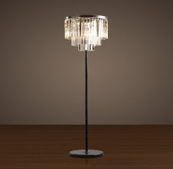 Торшер Odeon Clear Glass Floor Lamp