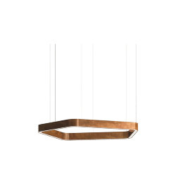 Henge Light Ring Horizontal Polygonal D50 Copper