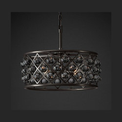 "Spencer Hoop Chandelier 15"" D40*H20"