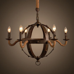 Люстра Loft Iron Sphere Chandelier Rope