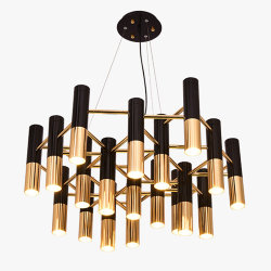 Люстра Delightfull Ike 19 Lamp Black-Gold