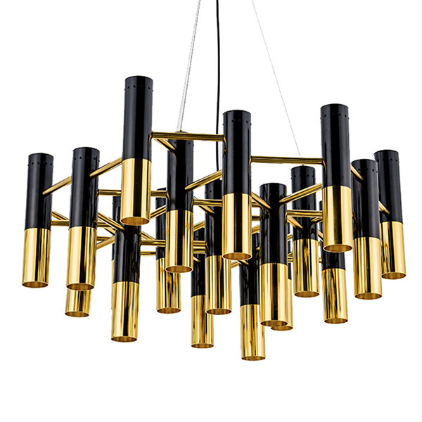 Люстра Delightfull Ike 22 Lamp Black-Gold