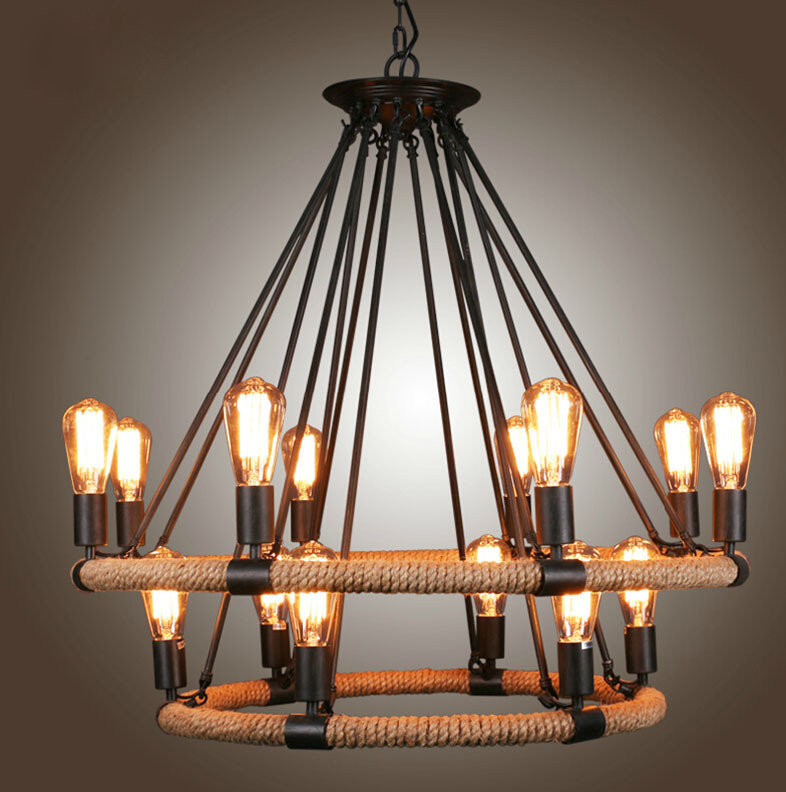 Люстра Loft Chandelier Filament Rope Double