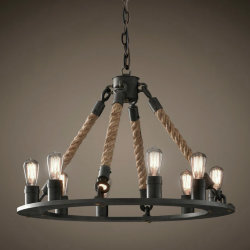 Люстра Loft Chandelier Old Castle Rope 6