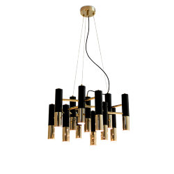 Люстра Delightfull Ike 13 Lamp Black-Gold