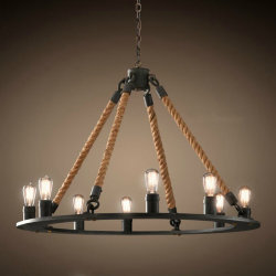 Люстра Loft Chandelier Old Castle Rope 8