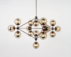 Люстра Roll & Hill Modo Chandelier 15 Globes by Jason Miller
