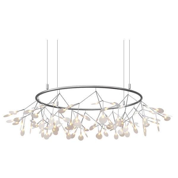 Люстра Moooi Heracleum The Big O D90 Nickel by Bertjan Pot