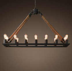 Люстра Loft Chandelier Old Castle Rope Line 16