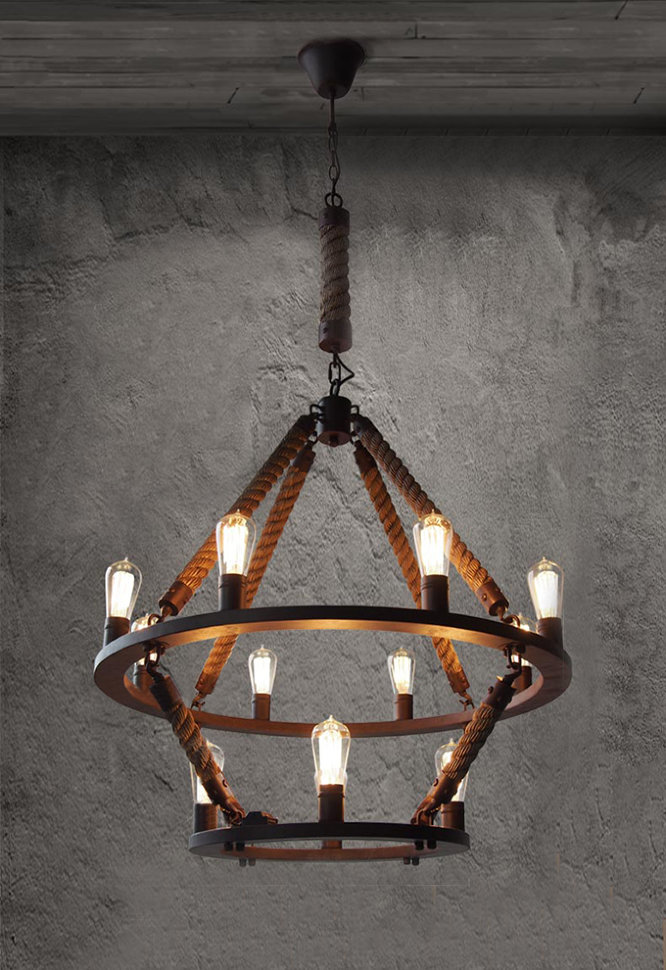 Люстра Loft Chandelier Old Castle Rope Double