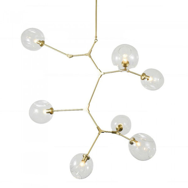 Люстра Branching Bubbles 7 Vertical Gold by Lindsey Adelman