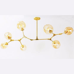 Люстра Branching Bubbles 7 Long Gold by Lindsey Adelman