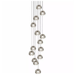 Mizu 14 Fourteen Pendant Chandelier by Terzani