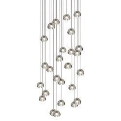 Mizu 26 Twenty Six Pendant Chandelier by Terzani