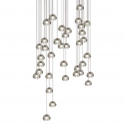 Mizu 36 Thirty Six Pendant Chandelier by Terzani