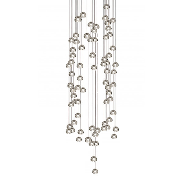 Mizu 72 Seventy Two Pendant Chandelier by Terzani