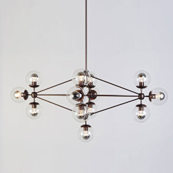 Люстра Modo Chandelier 13 Globes Roll & Hill