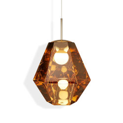 Светильник Cut Tall Pendant Gold by Tom Dixon