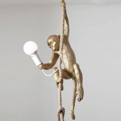 Seletti Monkey Gold Lamp Ceiling Right Светильник Обезьяна с Лампой