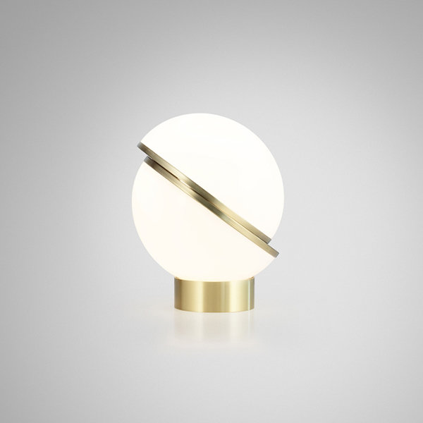 Crescent Table Lamp by Lee Broоm Gold