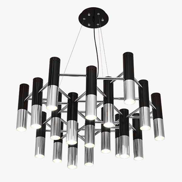 Люстра Delightfull Ike 19 Lamp Black-Silver