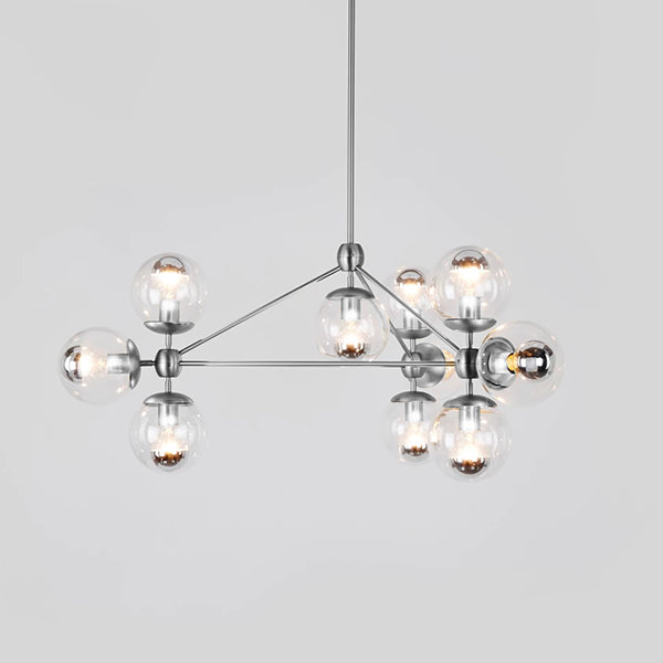 Люстра Modo Chandelier 10 Globes Chrome Roll & Hill