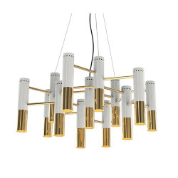 Люстра Delightfull Ike 19 Lamp White-Gold