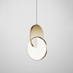 Светильник Eclipse Pendant Light Gold by Lee Broоm