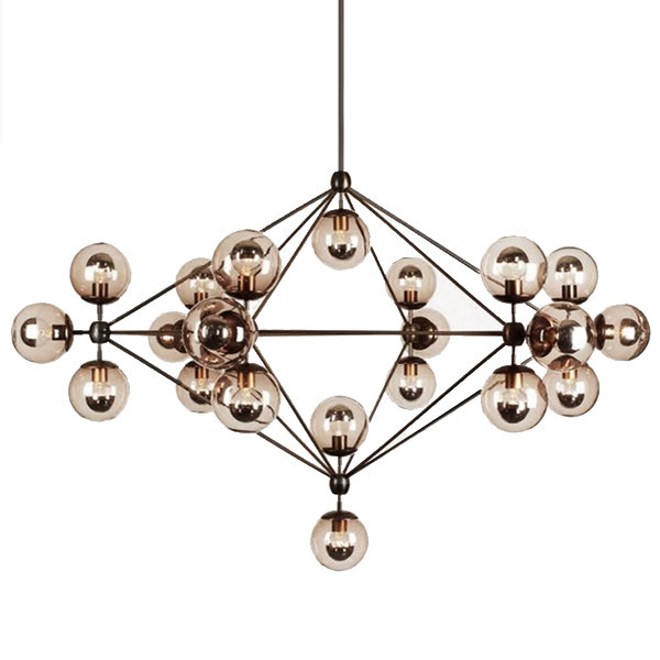 Люстра Modo Chandelier 21 Globes Roll & Hill