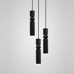 Люстра Fulcrum Light 3 lamps by Lee Broоm Black