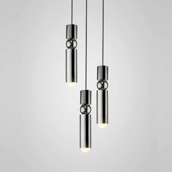 Люстра Fulcrum Light 3 lamps by Lee Broоm Chrome