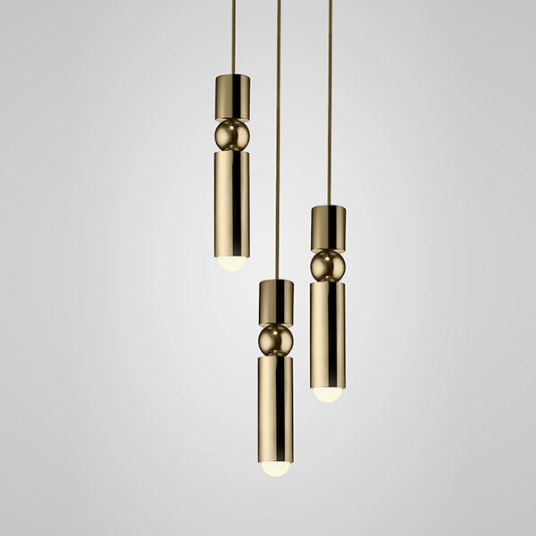 Люстра Fulcrum Light 3 lamps by Lee Broоm Gold