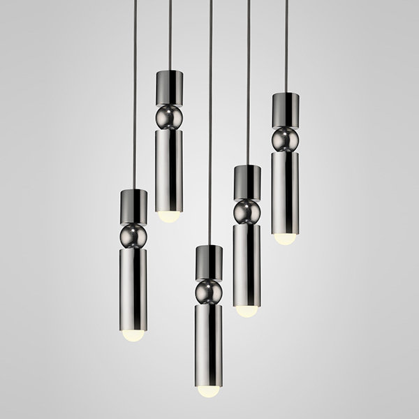 Люстра Fulcrum Light 5 lamps by Lee Broоm Chrome