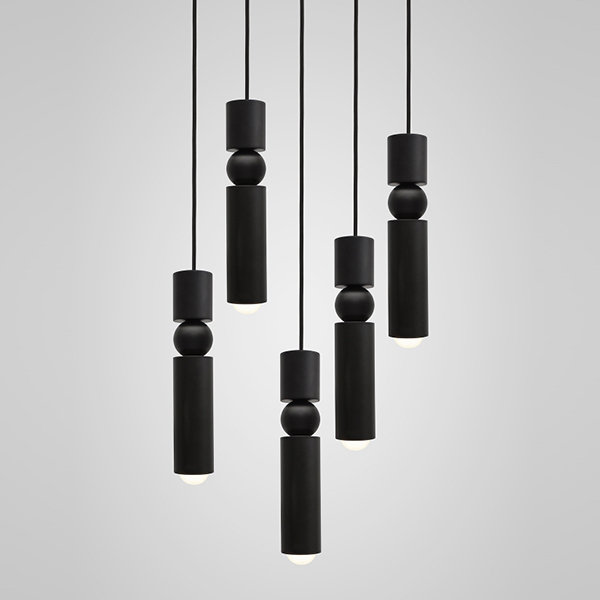 Люстра Fulcrum Light 5 lamps by Lee Broоm Black