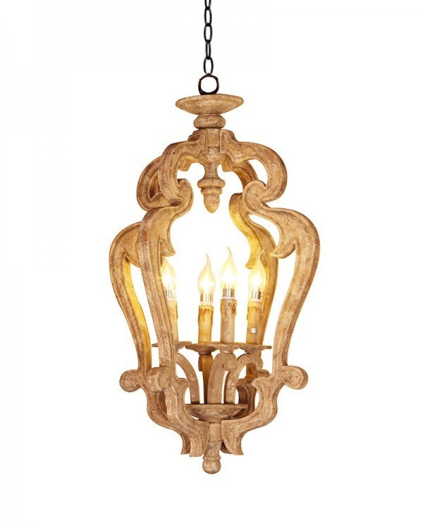 Люстра Loft Lights Vintage Wood Chandelier