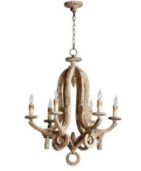 Люстра Loft Vintage Distressed Wood Chandelier