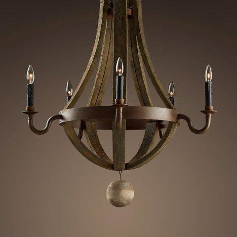 Люстра Loft Wine Barrel Hanging Chandelier 5