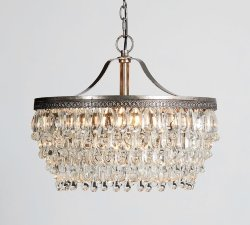 Люстра Clarissa Crystal Drop Sconce Hanging Big