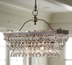 Люстра Clarissa Crystal Drop Sconce Rectangular