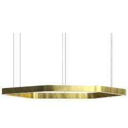 Henge Light Ring Horizontal Polygonal D100 Brass