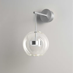 Настенный светильник Bolle Wall 01 Bubble Nickel by Giapato & Coombes