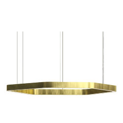 Henge Light Ring Horizontal Polygonal D90 Brass