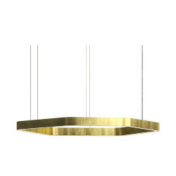Henge Light Ring Horizontal Polygonal D80 Brass
