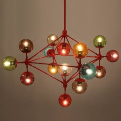 Люстра Roll & Hill Modo Chandelier 15 Globes Color