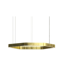 Henge Light Ring Horizontal Polygonal D70 Brass