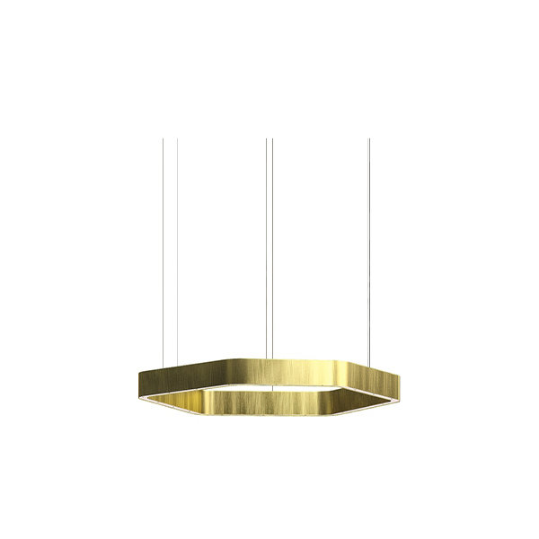 Henge Light Ring Horizontal Polygonal D40 Brass