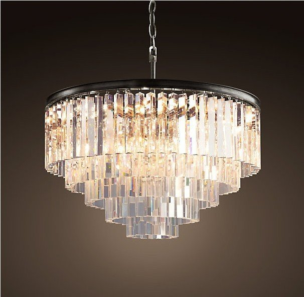 Люстра Odeon Clear Glass Hanging Chandelier 5 Rings